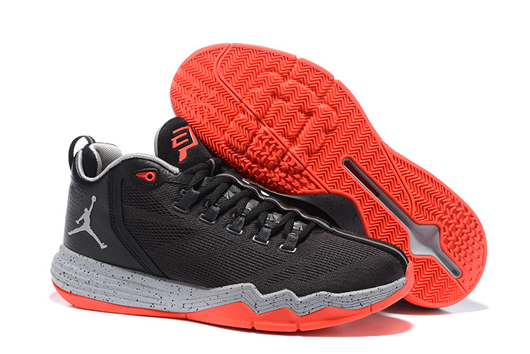 Jordan CP3 IX AE Black Reddish Orange Shoes