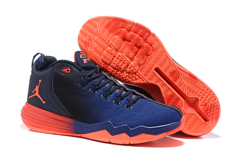 Jordan CP3 IX AE Blue Black Reddish Orange Shoes