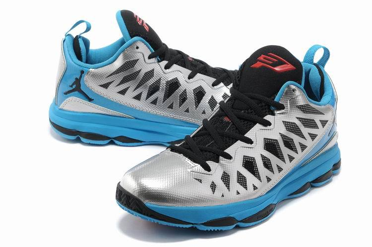Jordan CP3 VI Silver Black Blue Basketball Shoes