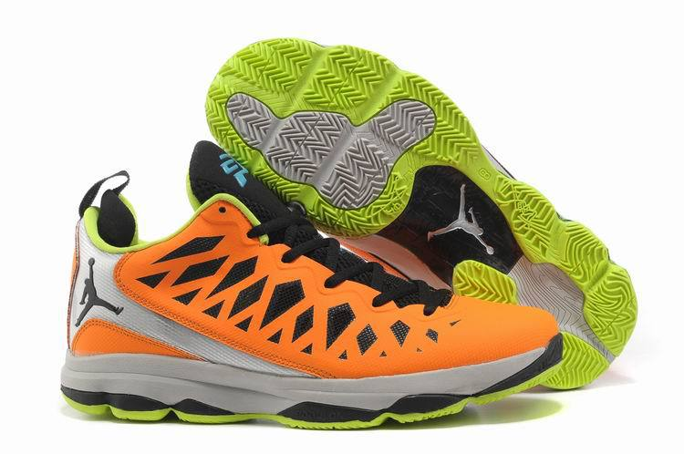 Jordan CP3 VI Silver Orange Black Grey Basketball Shoes