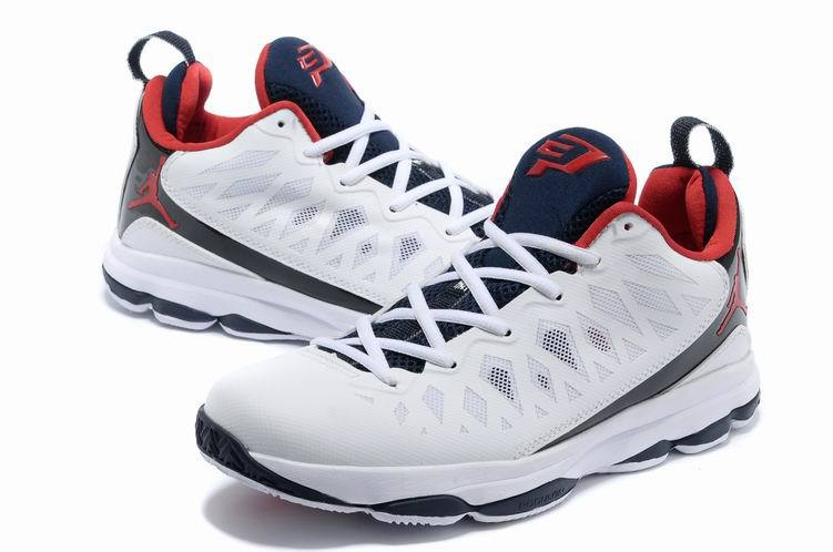 Jordan CP3 VI White Black Red Basketball Shoes