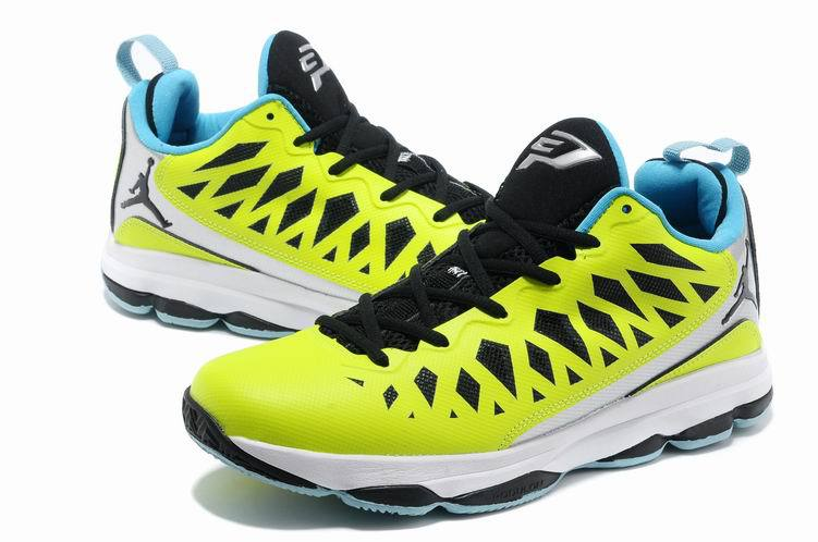 Jordan CP3 VI Yellow Black White Basketball Shoes