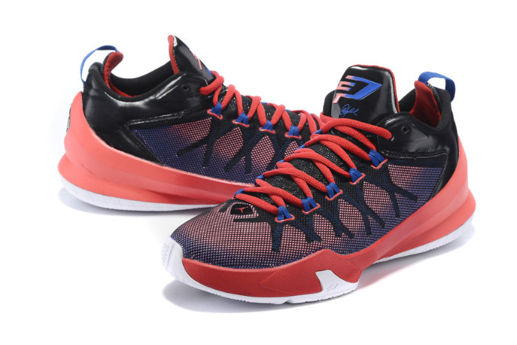 Jordan Chris Paul 8 Playoffs Red Black Blue Shoes