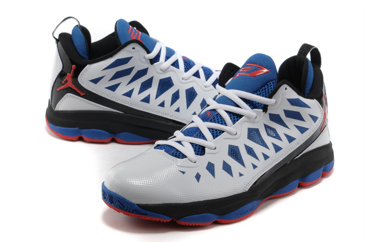 Jordan Christ Paul 6 White Blue Black Shoes