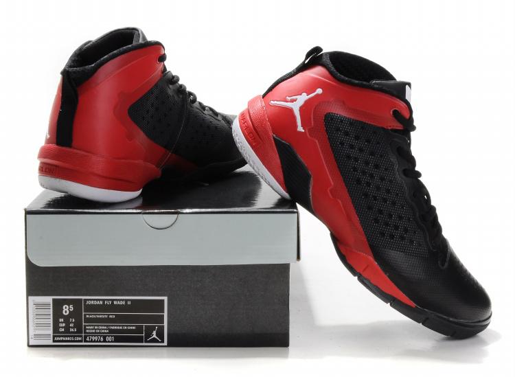 Classic Jordan Fly Wade II Black Red White