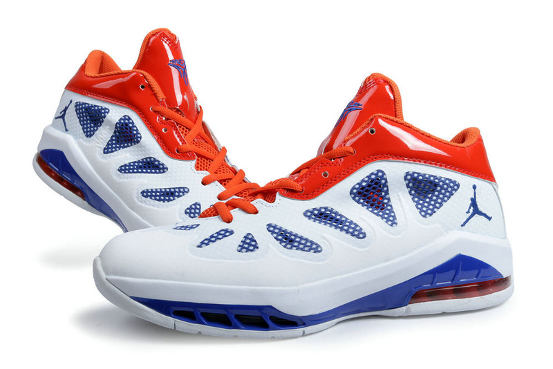 Latest Jordan Melo 8 White Blue Orange Shoes