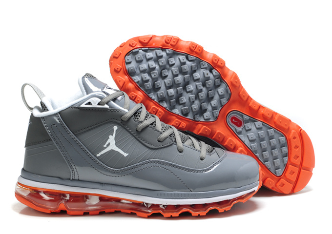 Air Jordan Melo M8+Max 09 Grey White Orange Shoes