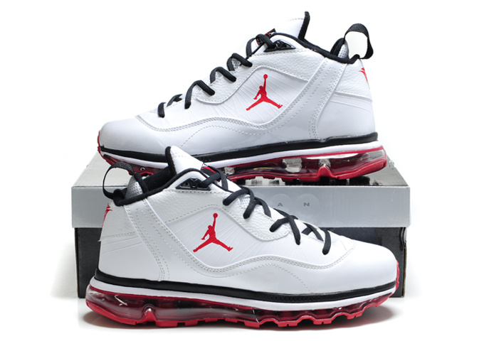Air Jordan Melo M8+Max 09 White Red Shoes