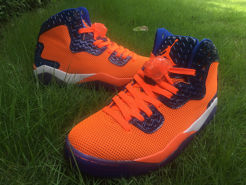 Jordan Spizike 40 Knicks Orange Blue Shoes