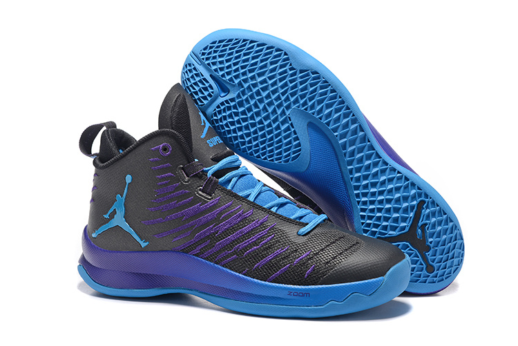 Jordan Super Fly 5 Black Purple Shoes