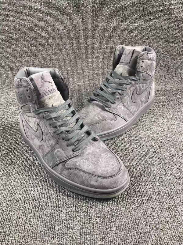KAWS x Air Jordan 1 Cool Grey Shoes