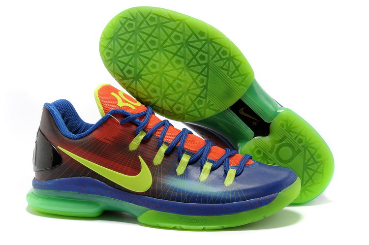 Kevin Durant 5 Low Blue Red Green Shoes