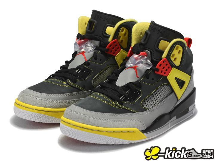 Latest Jordan 3.5 Black Grey Yellow Red Shoes