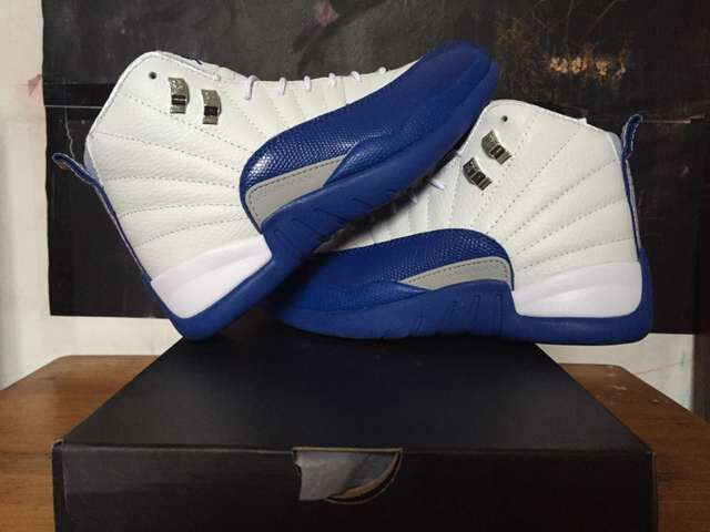 2016 Air Jordan 12 Retro White Frech Blue Shoes