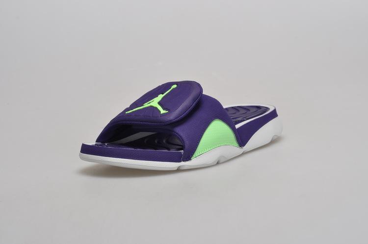 Men Jordan Hydro 5 Slide Sandals Purple Green