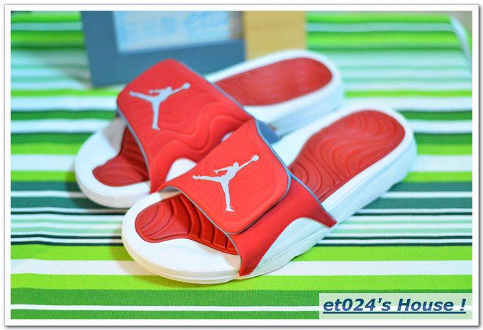 Men Jordan Hydro 5 Slide Sandals Red White