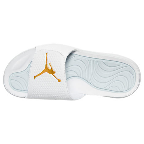 Men Jordan Hydro 5 Slide Sandals White Gold