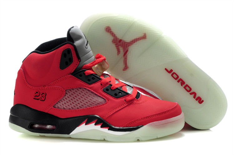 Midnight Air Jordan 5 Red Black For Women