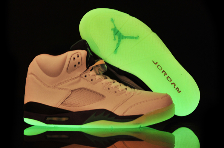 Midnight Air Jordan 5 White Purple Black Shoes