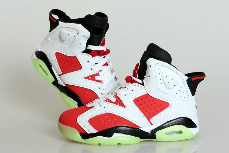 Midnight Jordan 6 Lipstick Red White Shoes For Women