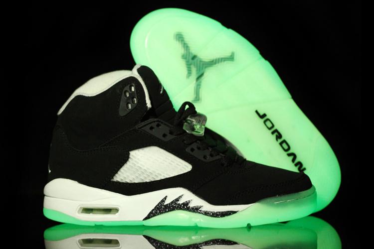 Midnight Oreo Air Jordan 5 Black White For Women