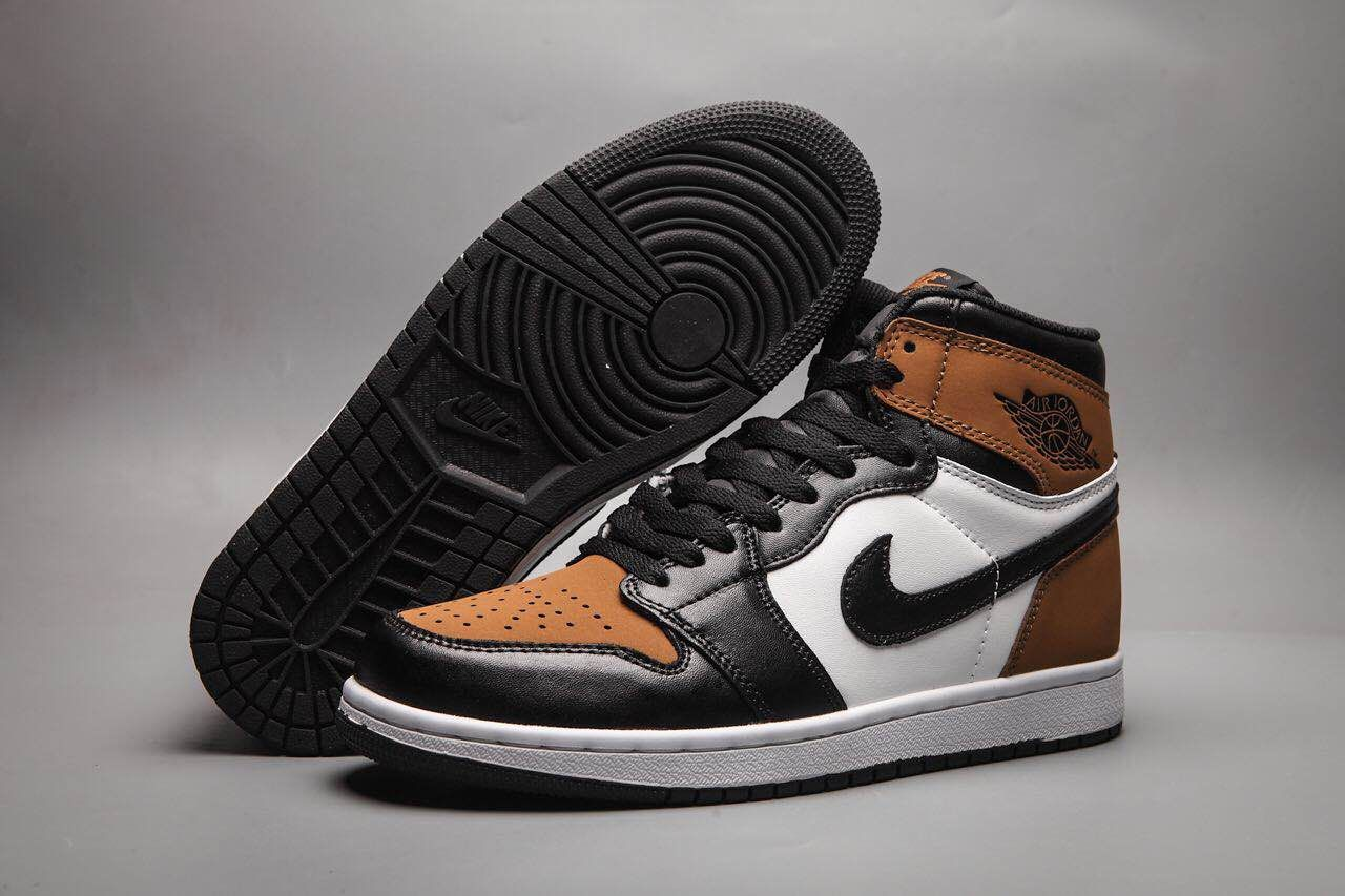 New Air Jordan 1 Black Toe Brown Shoes