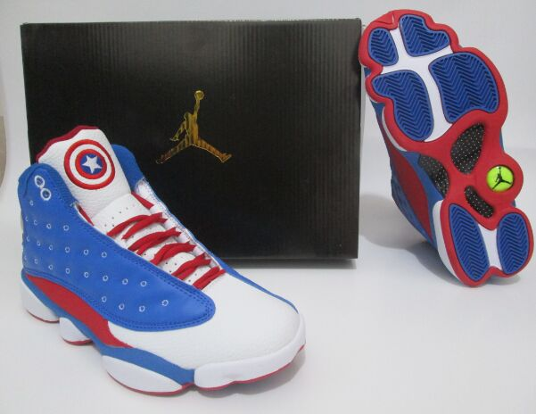 New Air Jordan 13 Captain Blue White Red Shoes