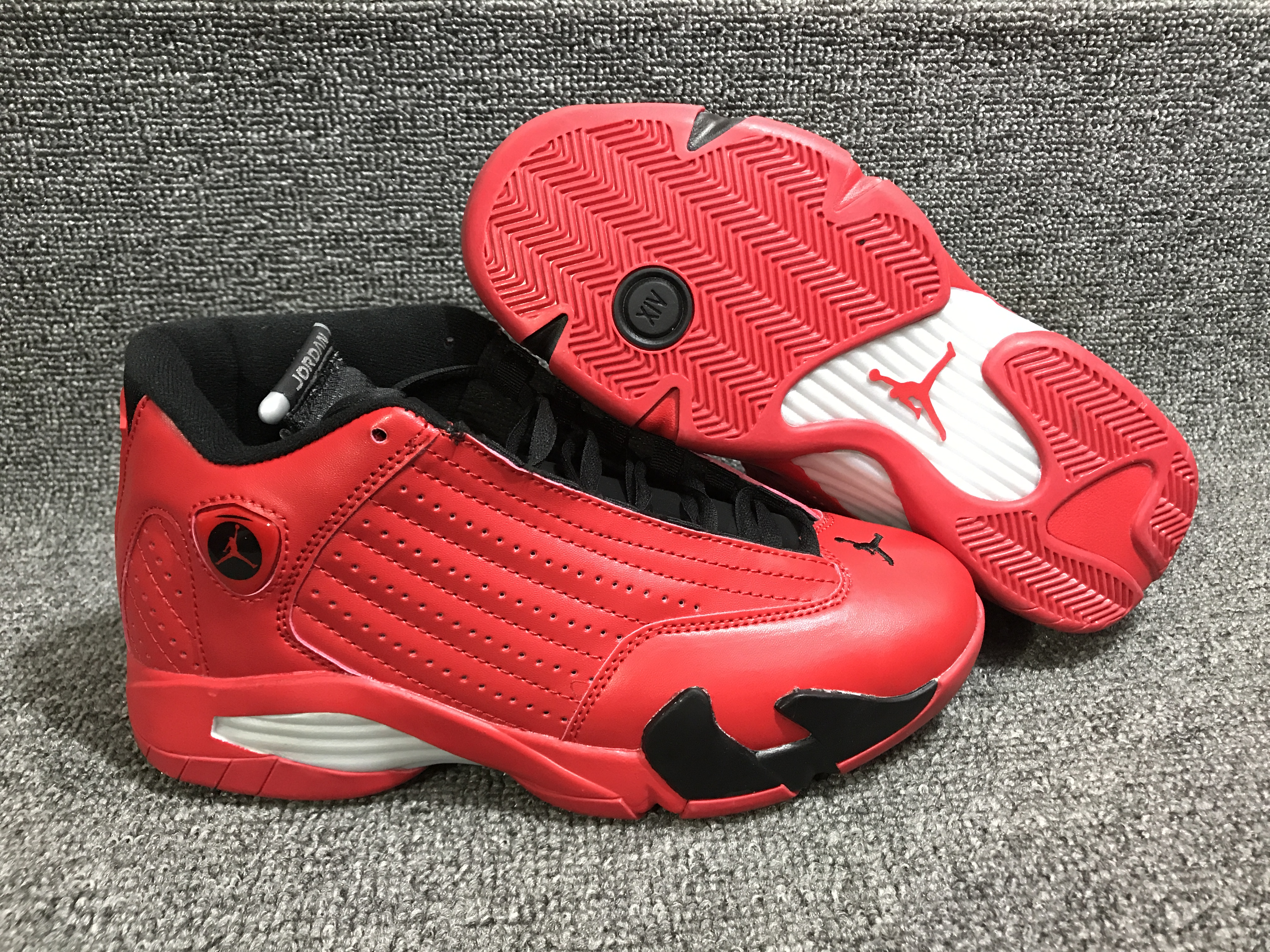 New Air Jordan 14 Red Black White Shoes