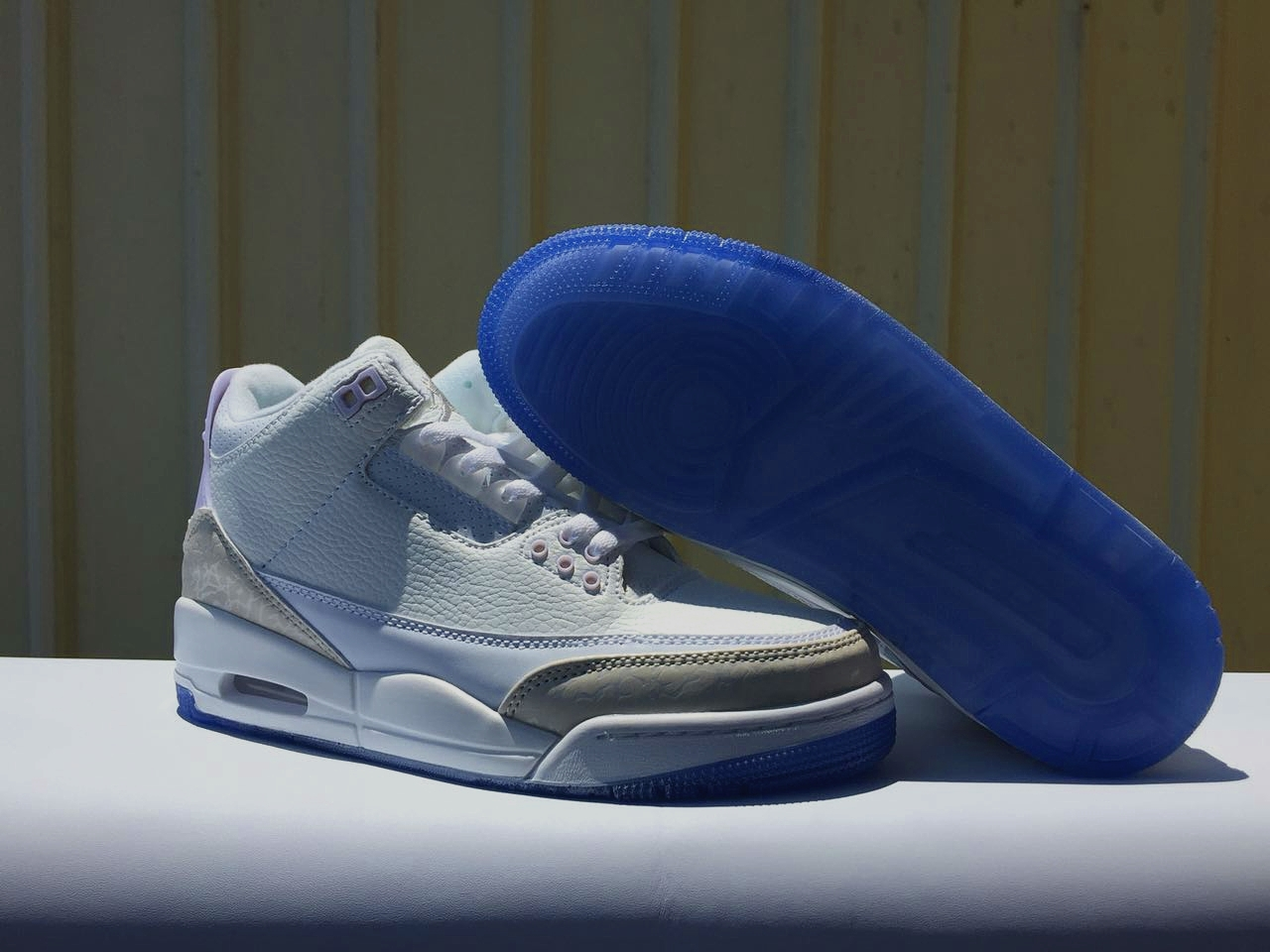 New Air Jordan 3 All White Transparent Sole Shoes