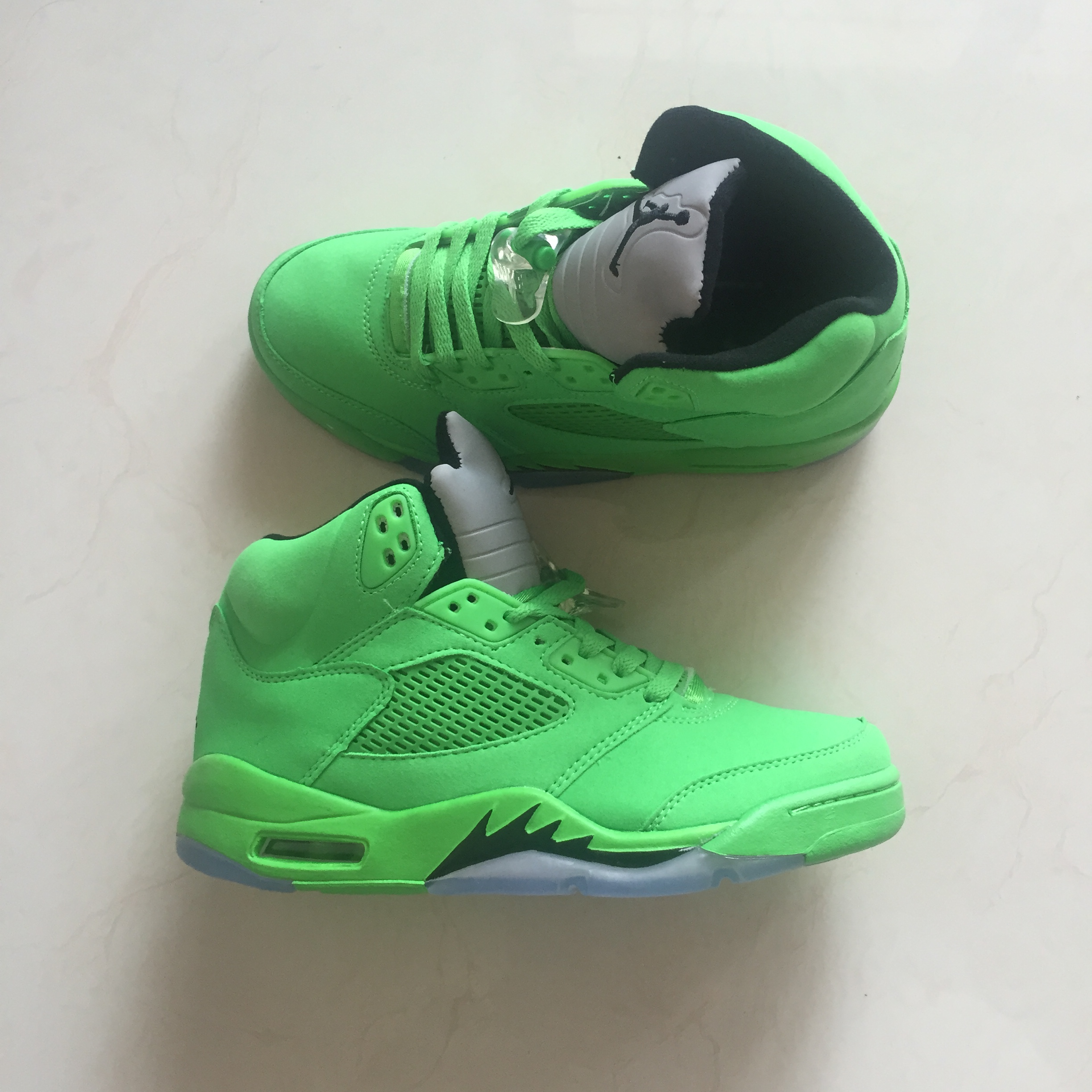 New Air Jordan 5 Retro All Green Shoes