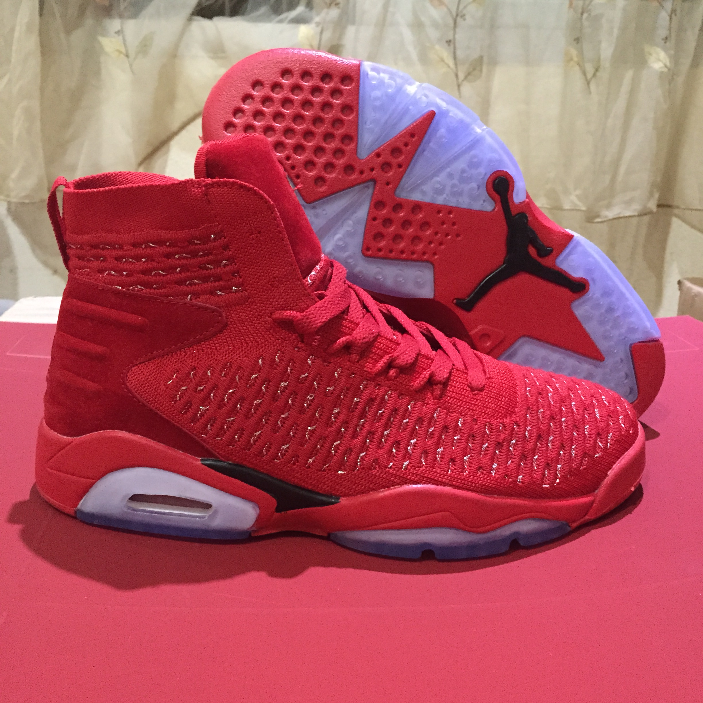 New Air Jordan 6 Flyknit China Red Shoes