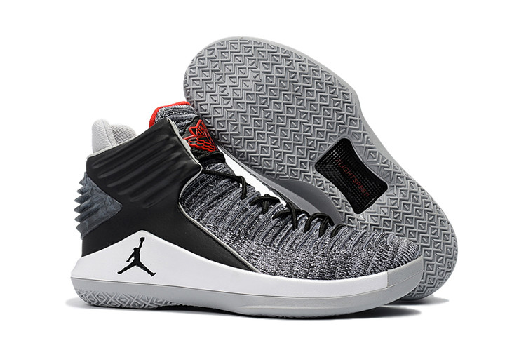 New Air Jordan XXXII Grey Black Red Shoes