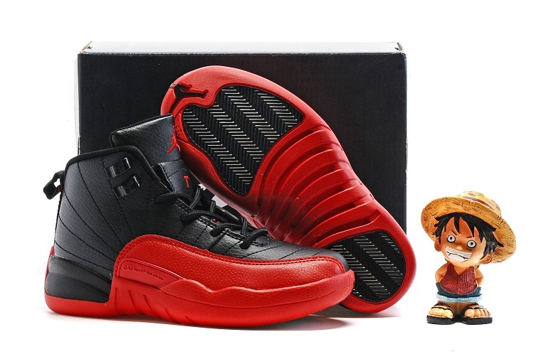 New Jordan 12 Flu Game Shoes For Kids