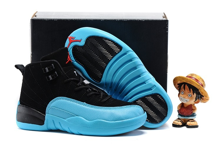 New Jordan 12 Gamma Blue Shoes For Kids