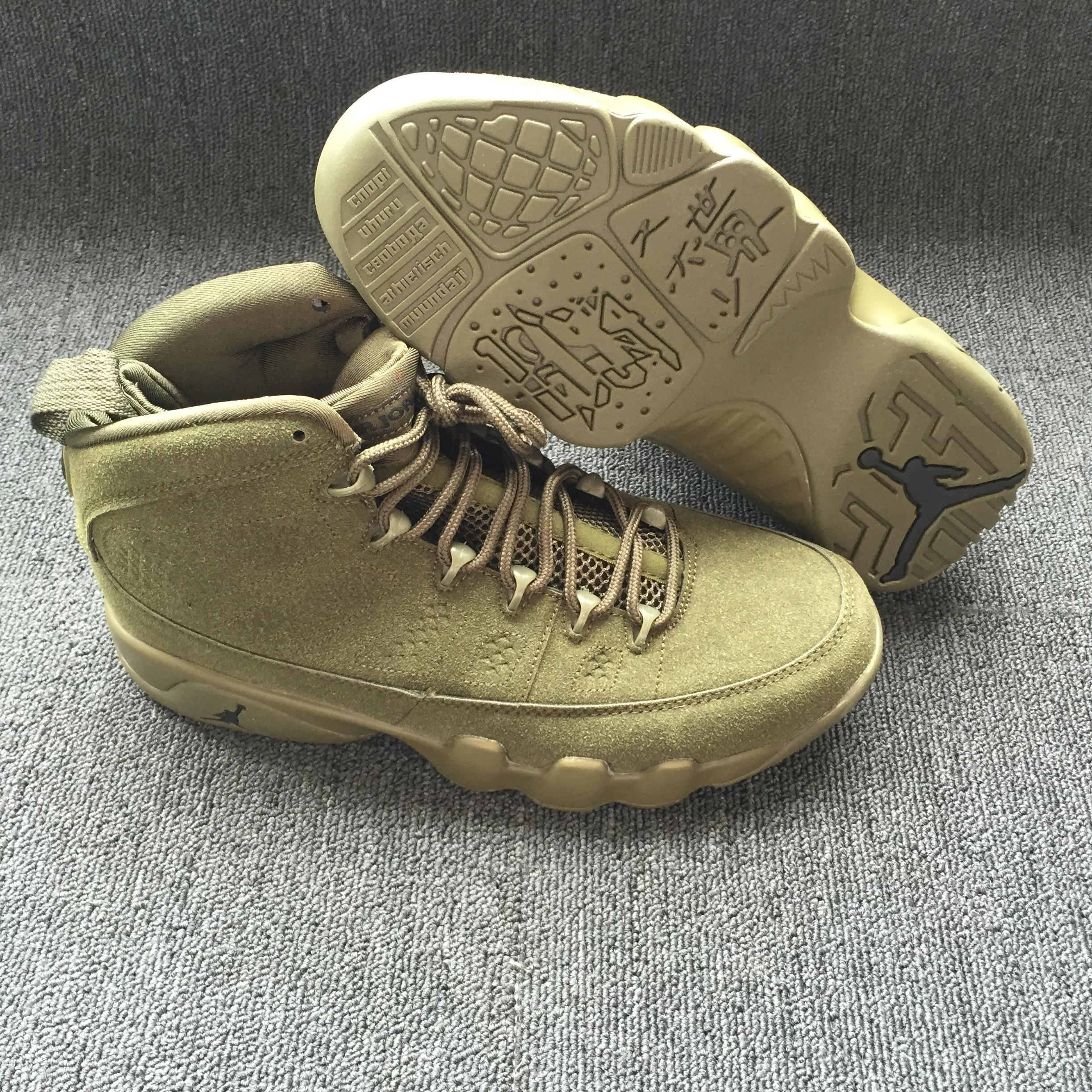 New Men Air Jordan 9 Retro Army Green