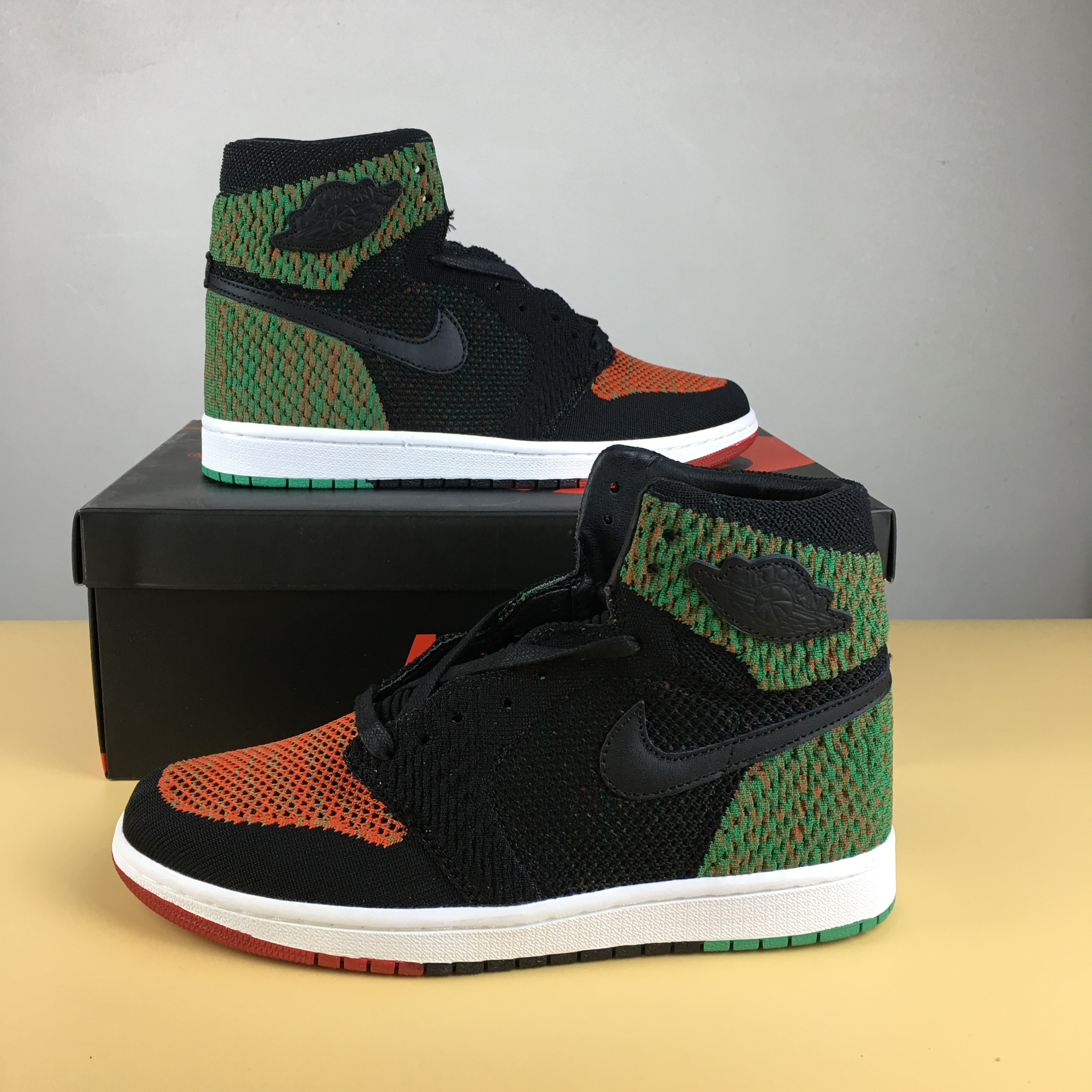 New Men Jordan 1 Flyknit BHM Shoes