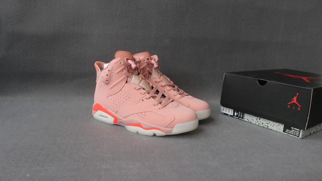 New Women Air Jordan 6 Pink Shoes