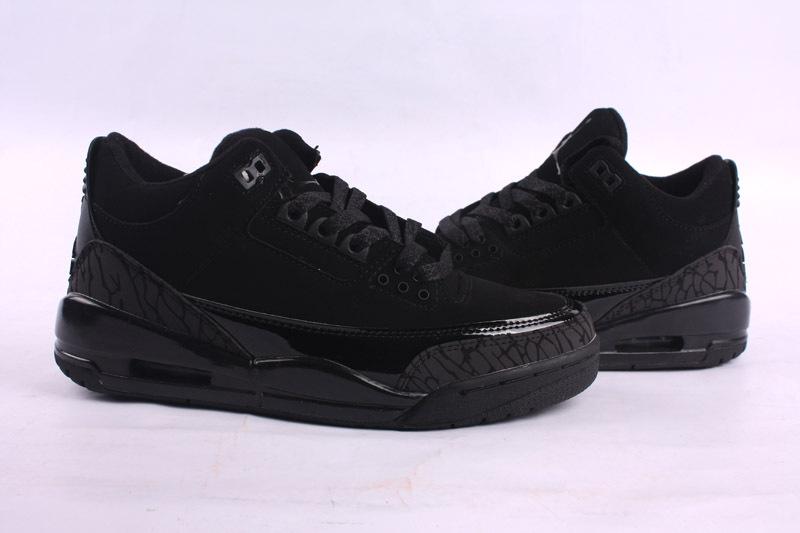 New 2015 Air Jordan 3 Retro All Black Shoes