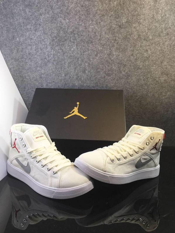 New 2016 Air Jordan 1 White Grey Red Shoes
