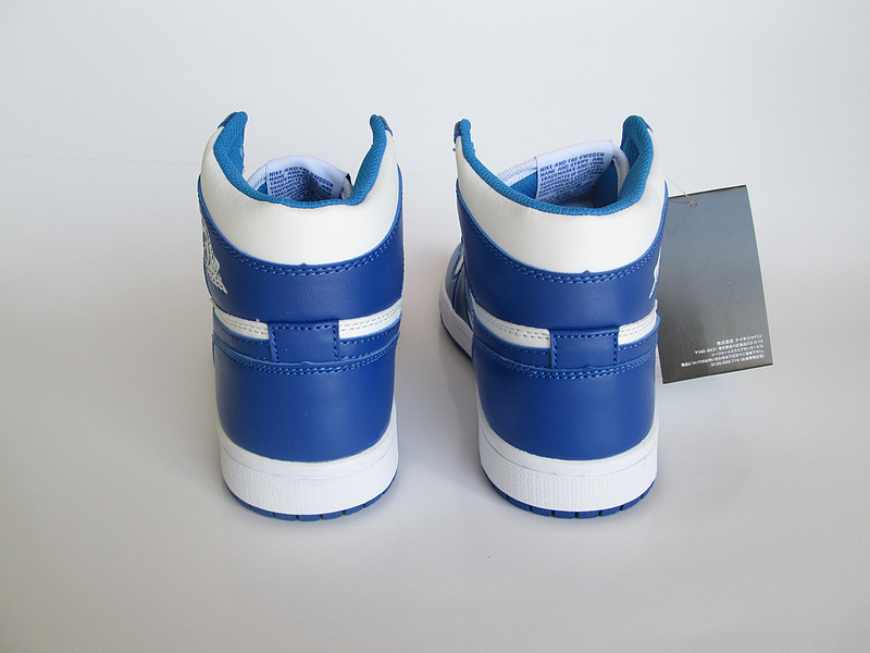 New Air Jordan 1 Active Blue White lover Shoes