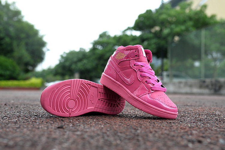 New Air Jordan 1 All Pink Shoes For Kids