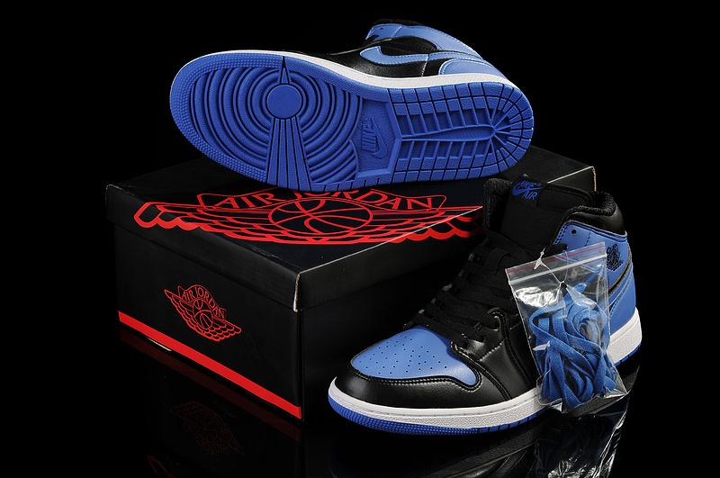 New Arrival Jordan 1 Black Blue Shoes