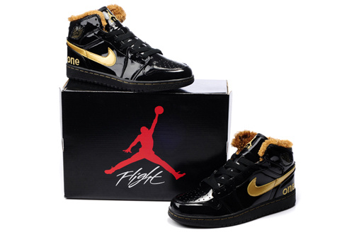 Air Jordan Retro 1 Black Gold