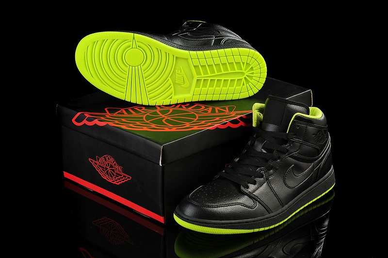 New Arrival Jordan 1 Black Green Shoes