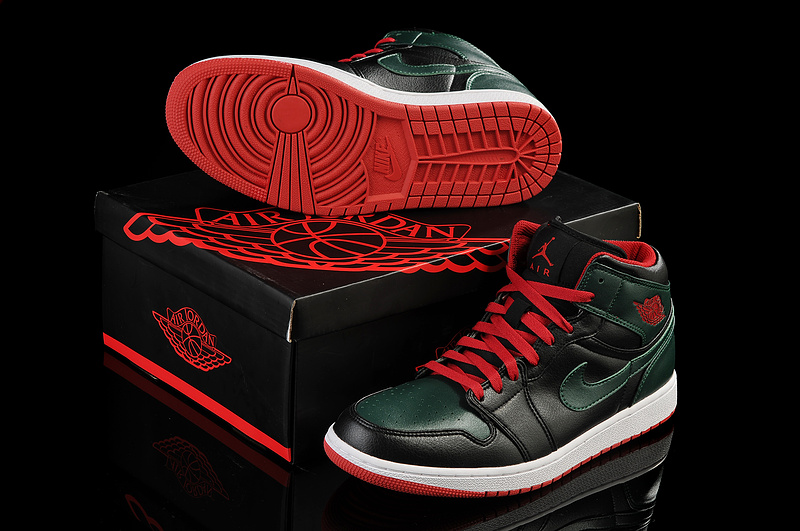New Arrival Jordan 1 Black Red White Shoes