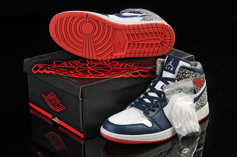 New Arrival Jordan 1 Blue White Grey Shoes