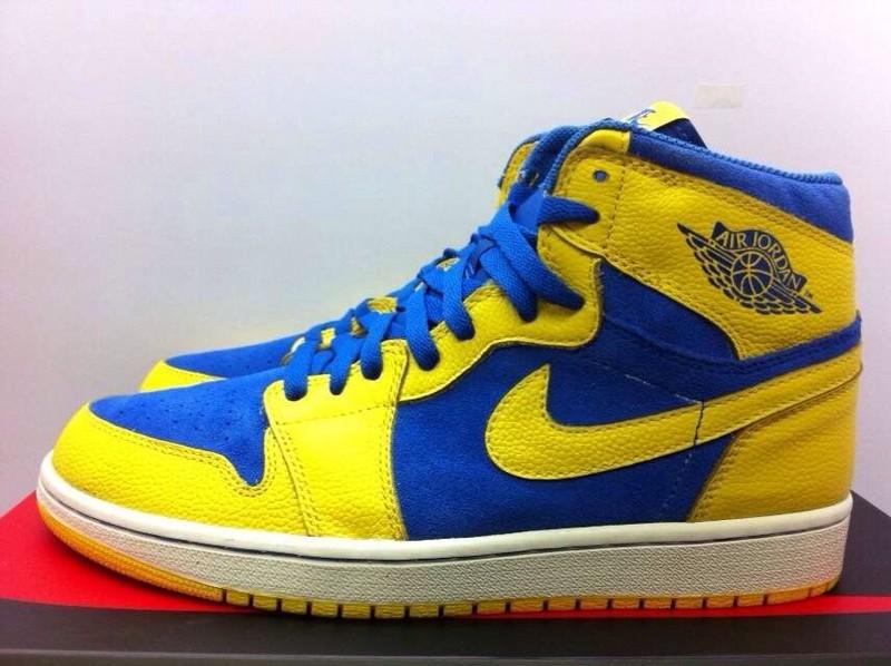 Air Jordan Blue And Yellow