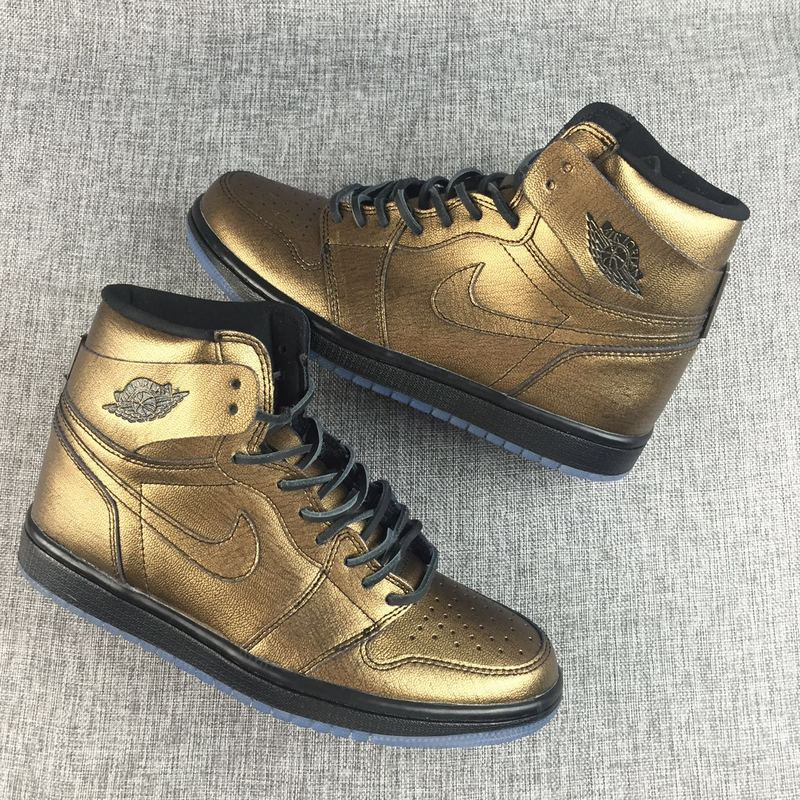 New Air Jordan 1 Bronze Black Shoes