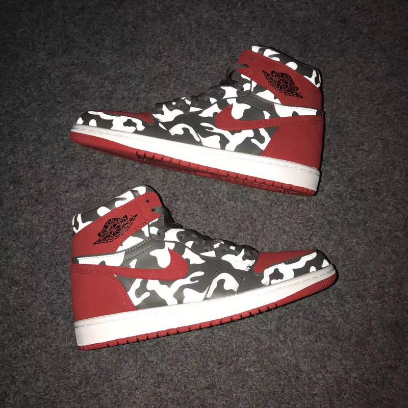 New Air Jordan 1 Camo Amy Red Shoes