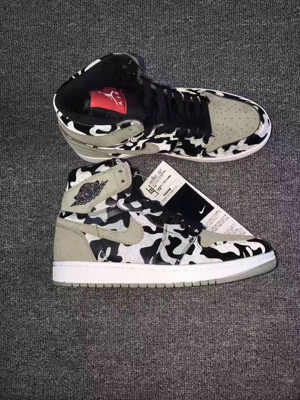 New Air Jordan 1 Camo Black Shoes